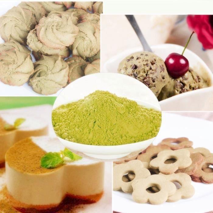 QN 500g Matcha Thé Vert en Poudre Biologique Poudre Macha Japonais à Café Cuisson @4