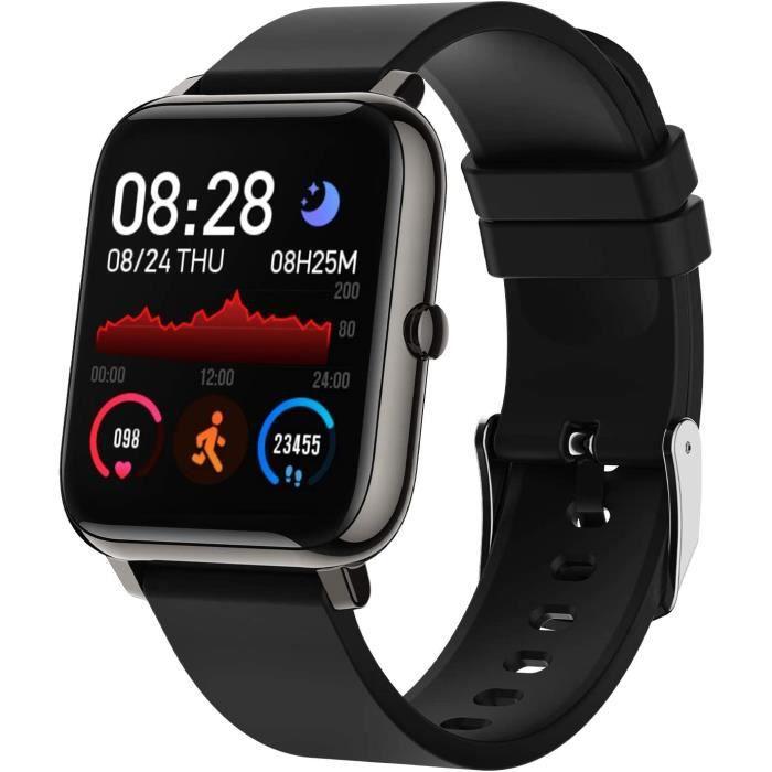 Montre Connect&eacutee Femmes Homme, Bozlun Montre Intelligente Etanche IP67, Smartwatch Sport GPS Cardio Fitness Tracker d'Acti3