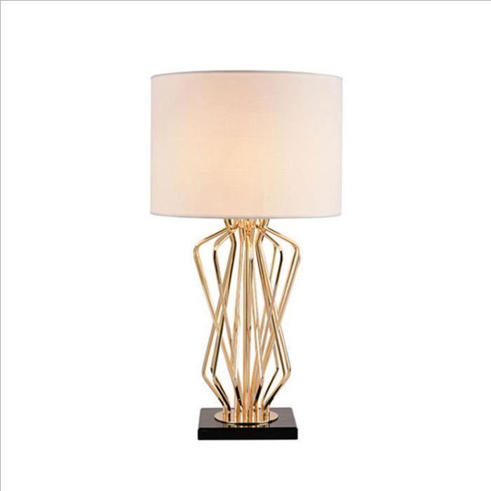 Lampe à poser E27 H 65 cm x Ø35 cm métal Lampe de chevet table Lampe Salon Chambre Style Minimaliste 220V