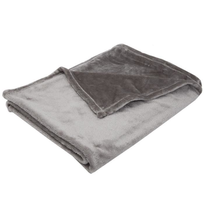 BABYCALIN Couverture Taupe Flanelle 75 x 100 cm 260 gr/m3