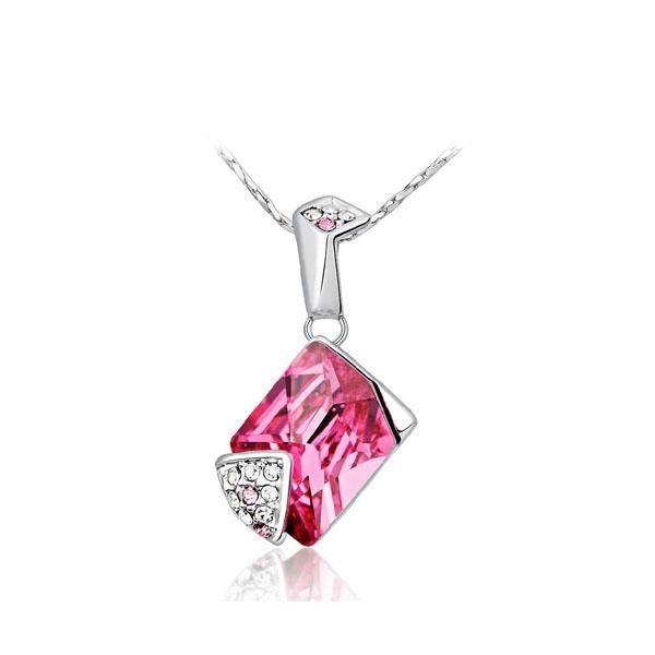 Pendentif Cristal de Swarovski Element Rose