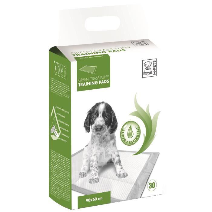 M-PETS Tapis d'apprentissage Green Grass - 30 pièces - 90x60cm - Pour chiot