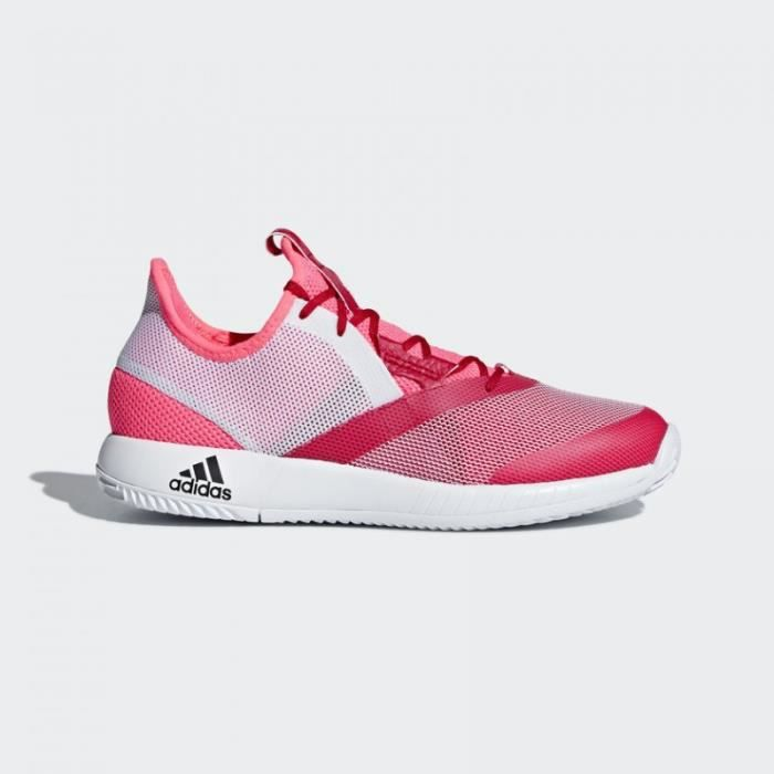 Chaussures ADIDAS Femme adizero Defiant Bounce w Rouge / Rose PE 2018