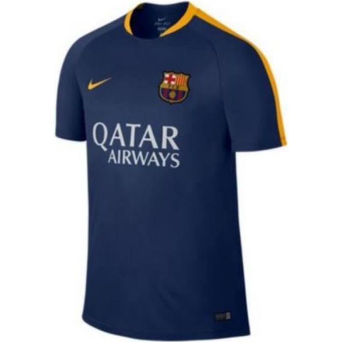 Maillot Officiel D'entrainement Nike FC Barcelone Bleu et Jaune