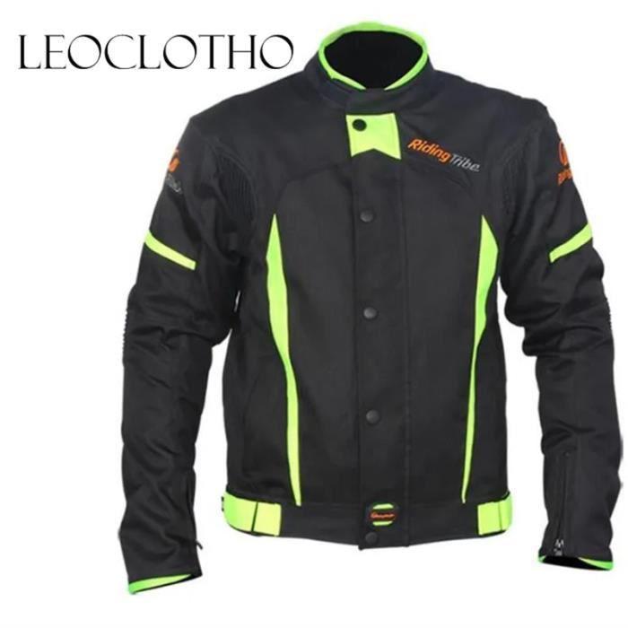 LEOCLOTHO-Veste de moto d'été unisexe anti-chute imperméable de cyclisme course racing