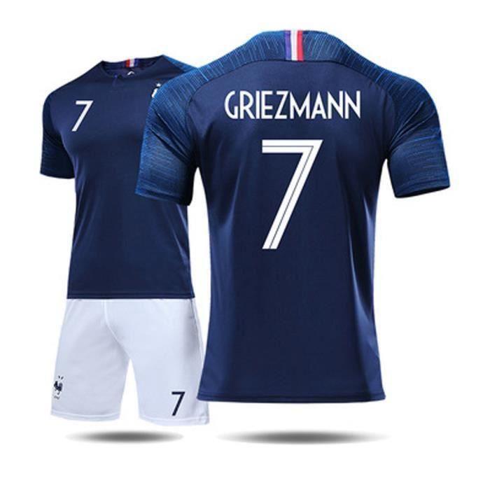 GRIEZMANN 7 Maillot Equipe de france 2 étoiles - Maillot et Shorts de football Enfant Homme Bleu