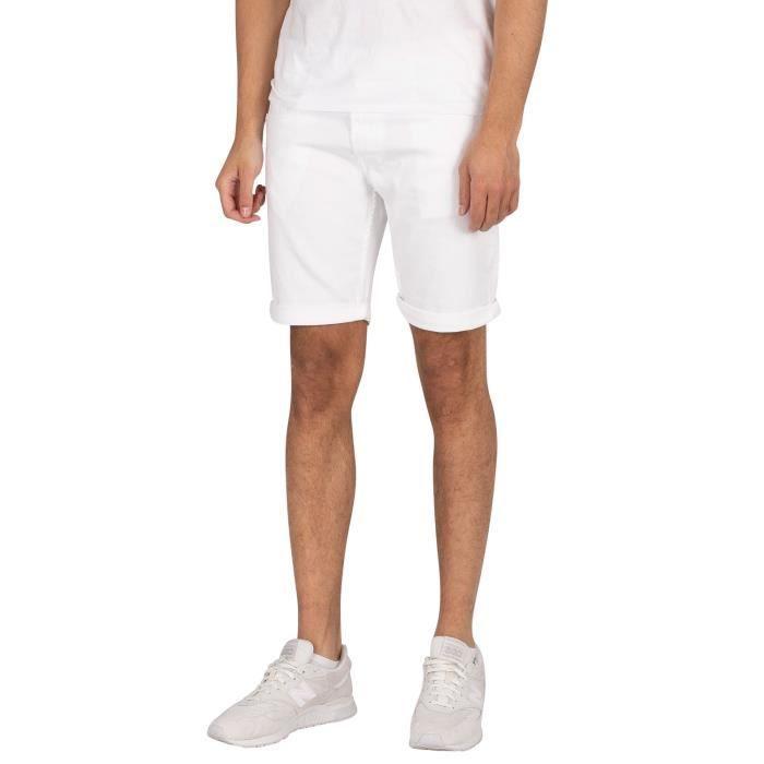 Replay Pour des hommes Nouveau Short Anbass Denim Slim, blanc