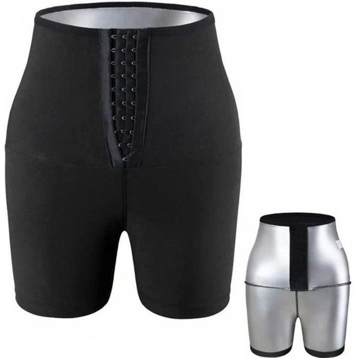 SHORT DE SUDATION Sauna Sweat Shapewear Short Taille Haute pour Femme Perte de Poids, Contrôle du Ventre Shapewear Short Noir