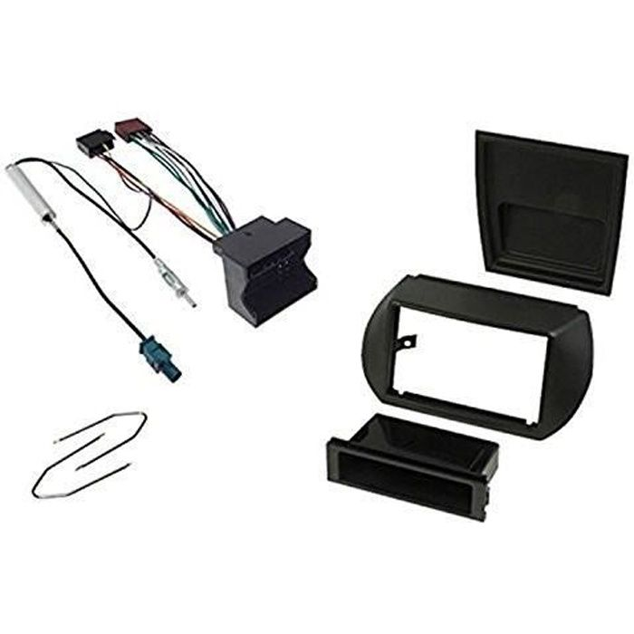 Kit montage autoradio 1DIN / 2 DIN pour Peugeot BIPPER - FIAT fiorino / Qubo - Citroen Nemo