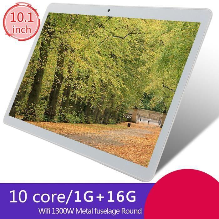 Tablette PC 10 pouces 1 Go de RAM 16 Go de ROM pour Android 8.0 WiFi Or