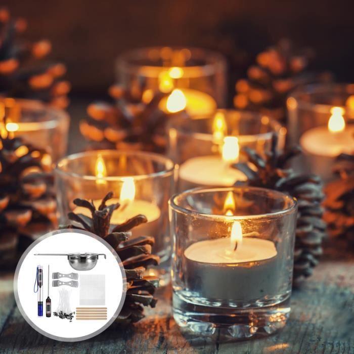 1 ensemble de kits de fabrication de bougies bougie faire des fournitures parfumée bricolage pour la maison CHANDELLE