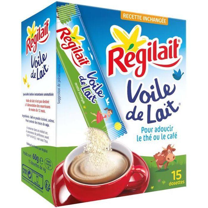 REGILAIT Poudre Voile de lait - En boîte de 15 sticks - 4 g
