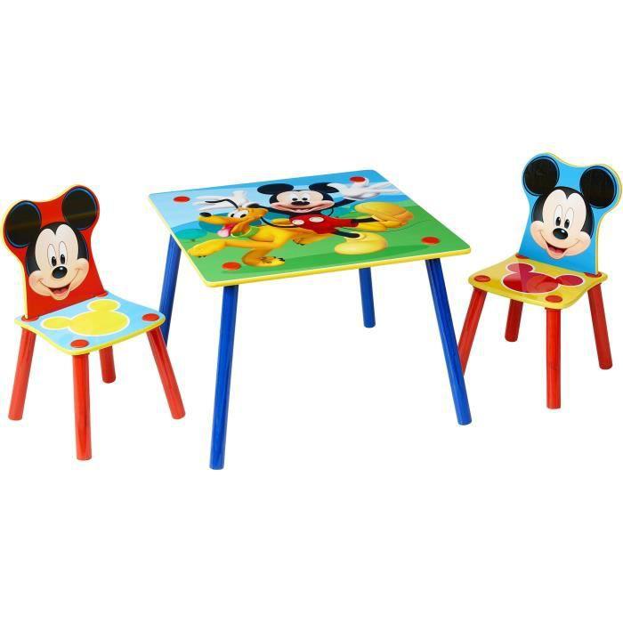 Mickey et ses amis - Ensemble table et 2 chaises pour enfants