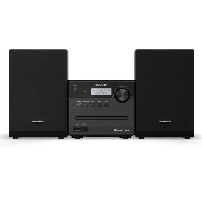 SHARP XL-B515D - Micro Chaîne Hi-fi - 40W - 6 égaliseurs préréglés - Bluetooth - FM Radio, lecteur CD - Ecran LCD - Noire