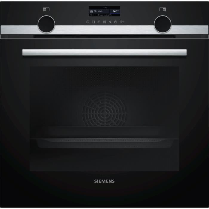Siemens - four intégrable multifonction 71l 60cm a pyrolyse inox - hb579gbs0