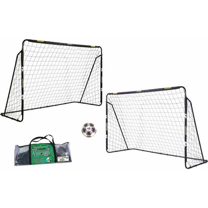 USG - 2 buts de foot - Taille 240 x 150 cm avec filet et ballon