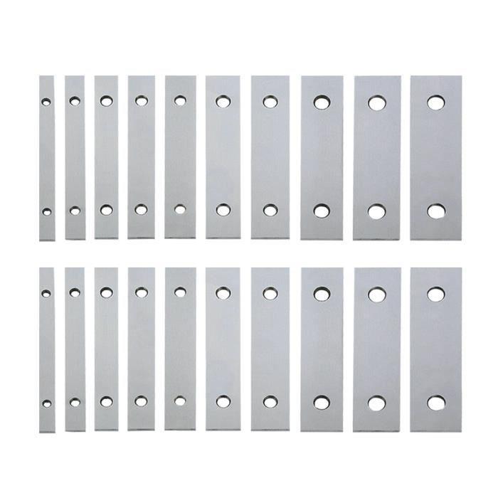 10 paires de barres parallèles Durable professionnel 1/8 pouces x 6 en acier plat étau corne barre parallèle BOUCLE D OREILLE