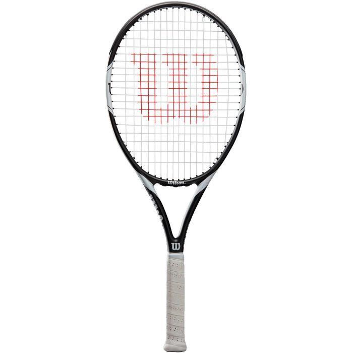 WILSON Raquette tennis Federer Team 105 TNS - Adulte - Noir, gris et blanc