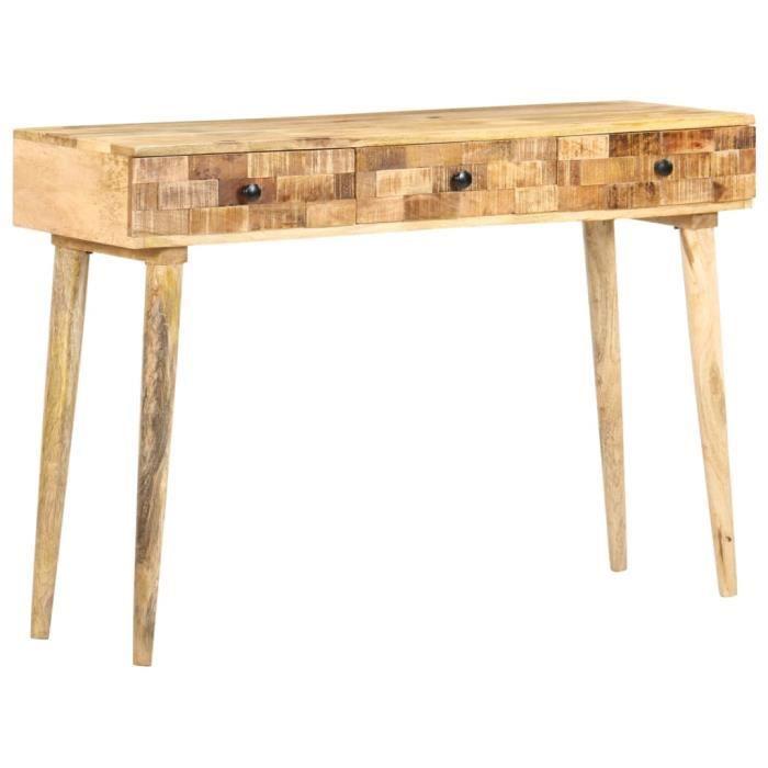Zhihushop - MEUBLE - Table console 115x35x76 cm Bois de manguier massif - 73703