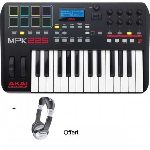 pack akai mpk225 clavier ma tre usb 25 notes casque. Black Bedroom Furniture Sets. Home Design Ideas