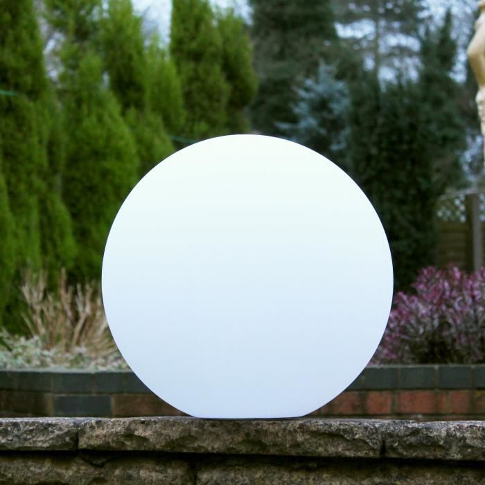 40cm Boule Sphere Led Lumineuse Lampe Ronde Sol Salon Rgb