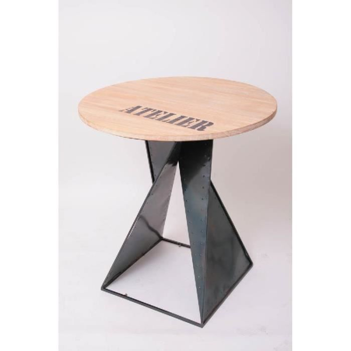Table design industriel images - Table basse ronde industrielle ...