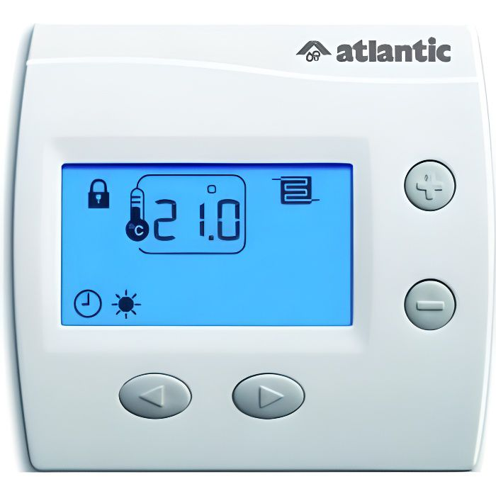 atlantic thermostat ambiance filaire programmable 73270. Black Bedroom Furniture Sets. Home Design Ideas