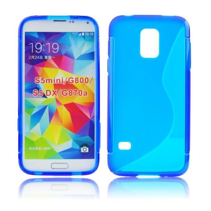 coque samsung galaxy s5 mini g800 bimati re bleu achat. Black Bedroom Furniture Sets. Home Design Ideas