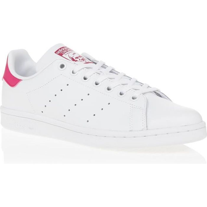 ADIDAS Baskets Stan Smith - Junior - Blanc et rose Blanc ...