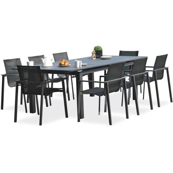 DCB GARDEN Table Miami en aluminium avec rallonge automatique - 180 ...