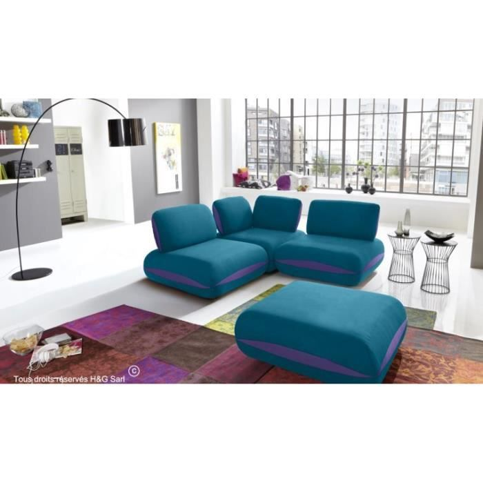 canape d angle tissu 3 places hit bleu turquoise avec. Black Bedroom Furniture Sets. Home Design Ideas