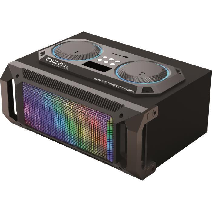 ENCEINTE ET RETOUR IBIZA SOUND SPLBOX150 - Système Audio 2.1 PORTABLE