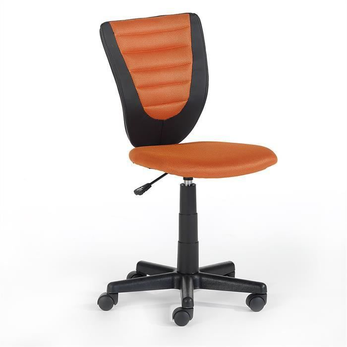 fauteuil de bureau enfant hauteur r glable orange achat. Black Bedroom Furniture Sets. Home Design Ideas