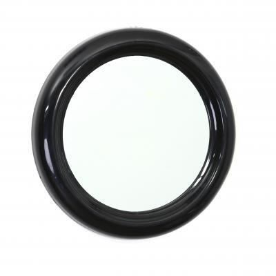 round miroir rond pvc 30cm noir achat vente miroir cdiscount. Black Bedroom Furniture Sets. Home Design Ideas