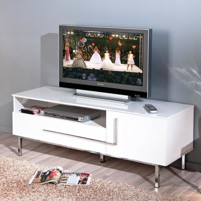 table tv banc t l vision armoire basse meuble support t l. Black Bedroom Furniture Sets. Home Design Ideas