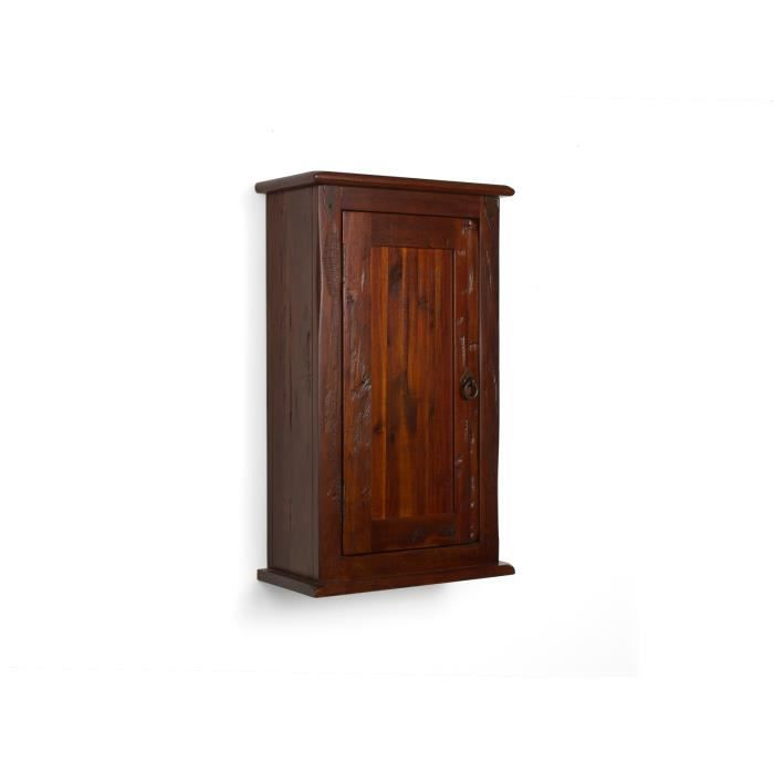 armoire murale catana en pin brun achat vente armoire de chambre ornement m tallique 1 porte. Black Bedroom Furniture Sets. Home Design Ideas