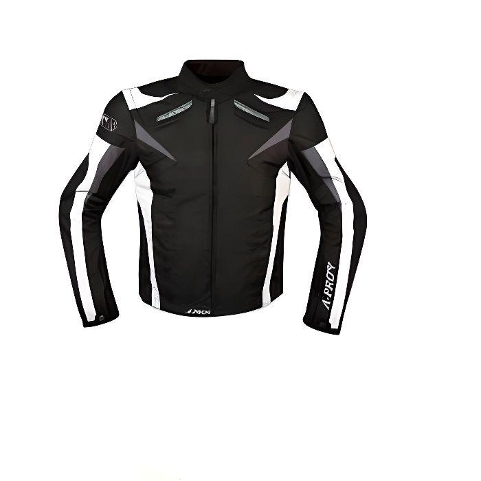 A-pro Moto CE Protections Textile Blouson Manchon D/émontable Gilet Termique bleu S