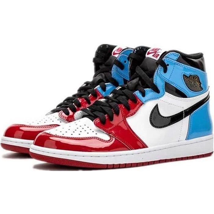 Air jordan 1 rouge et bleu - Cdiscount