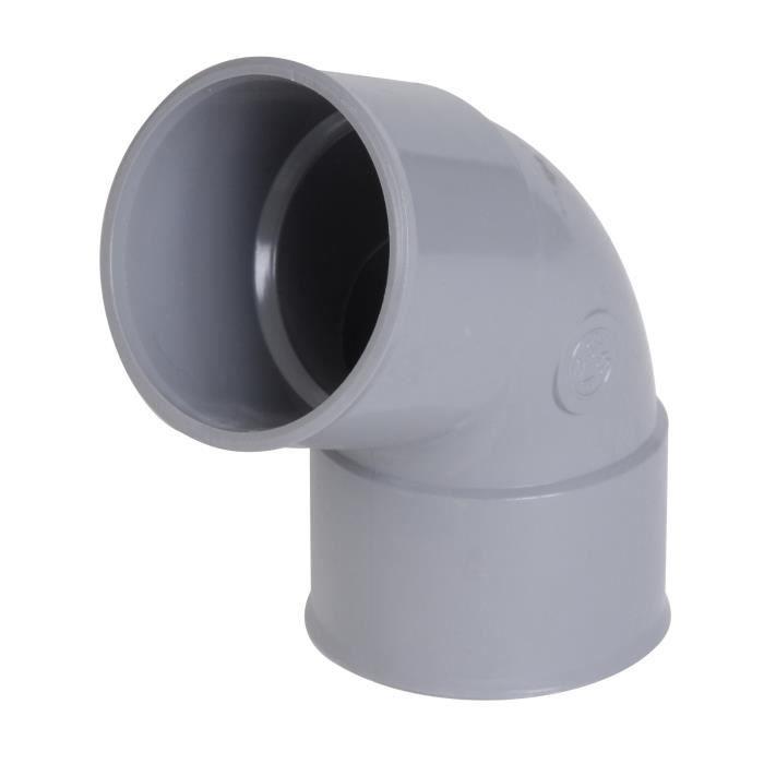 PVC Raccord coudé d/'évacuation à 87°30 40 Simple emboîtage MF NICOLL