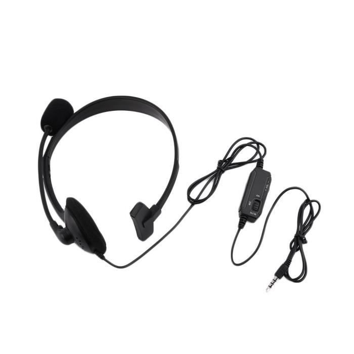 CASQUE AVEC MICROPHONE Filaire Gaming Headset Casque Microphone Mic Chat