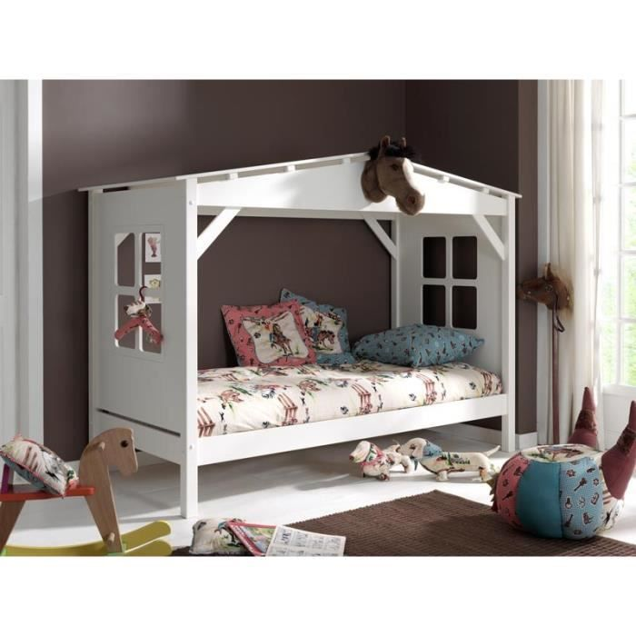 paris prix lit enfant cabane home blanc achat. Black Bedroom Furniture Sets. Home Design Ideas