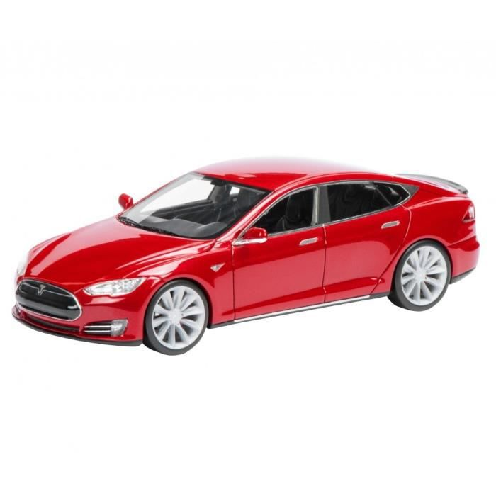 mod le r duit tesla model s 1 43 rouge achat vente voiture camion cdiscount. Black Bedroom Furniture Sets. Home Design Ideas