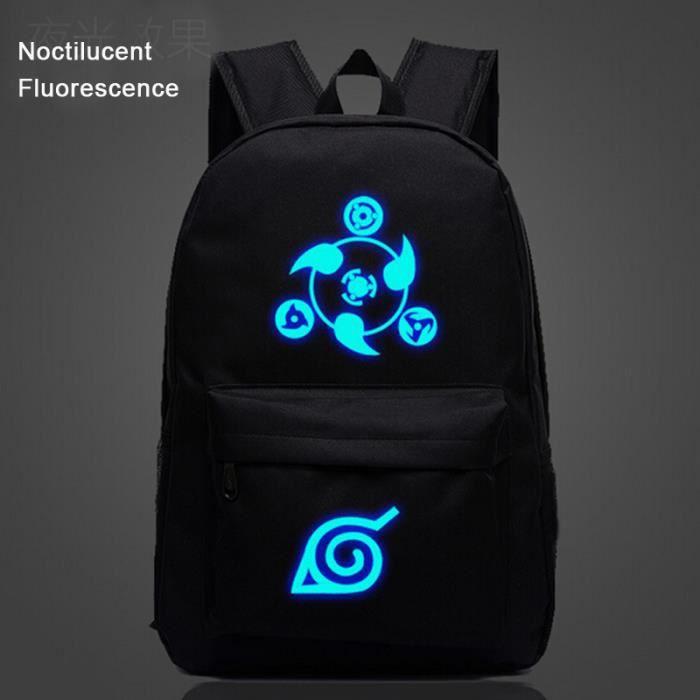 CARTABLE Naruto The Sharingan-Sac à dos Noctilucent Fluores