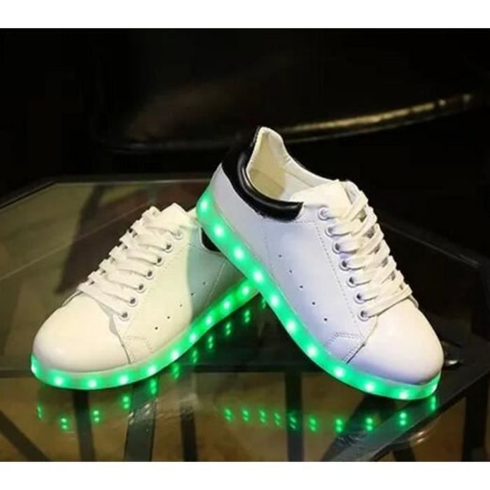 Chaussures Hip Hop USB Charge 7 Couleurs Glow C...