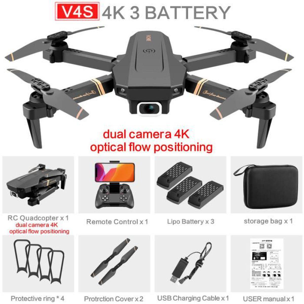 Drone quadrirotor RC Wifi avec caméra grand angle 4K Mode de maintien