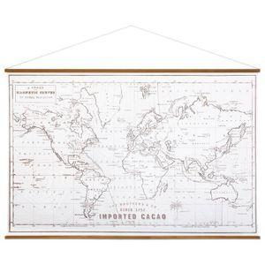 TABLEAU - TOILE Toile à suspendre Colonial 110x73 cm carte du mond