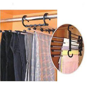 FIL À LINGE - ÉTENDOIR 5 en 1 cintre économiser l'espace pour les pantalo