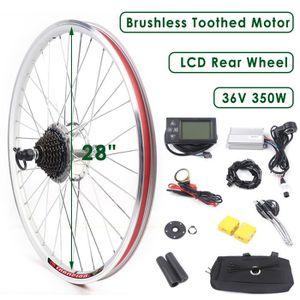 Vélo électrique Kit de conversion pour 36 V 500 W devant à Moteur Arrière Roue DEL LCD Affichage