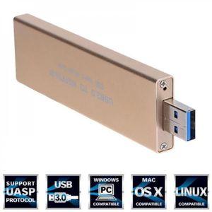 HOUSSE DISQUE DUR EXT. Alliage d'aluminium USB 3.0 à M.2 SSD USB3.0 à NGF