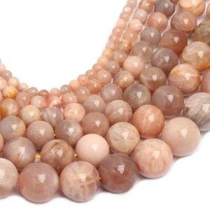 4558550000446 4pc Pierre de Soleil naturelle Boules 8mm Perles de Pierre